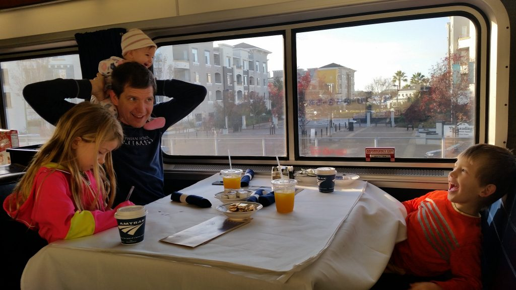 Laughing in the Amtrak Train Dining Car