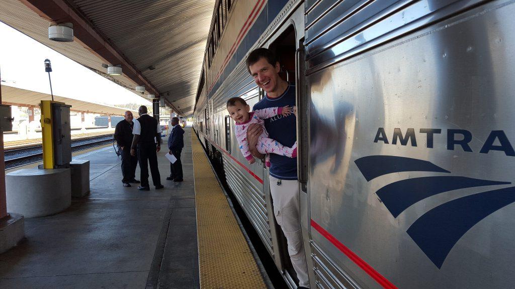 On the Amtrak Coast Starlight at Los Angeles Union Station